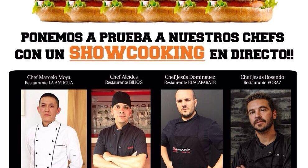 Hamburdehesa showcooking 4 cocineros